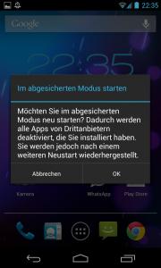 android abgesicherter modus